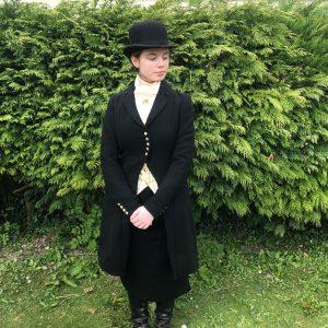 black ascot habit vintage style