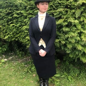 fenn ladies navy habit melton