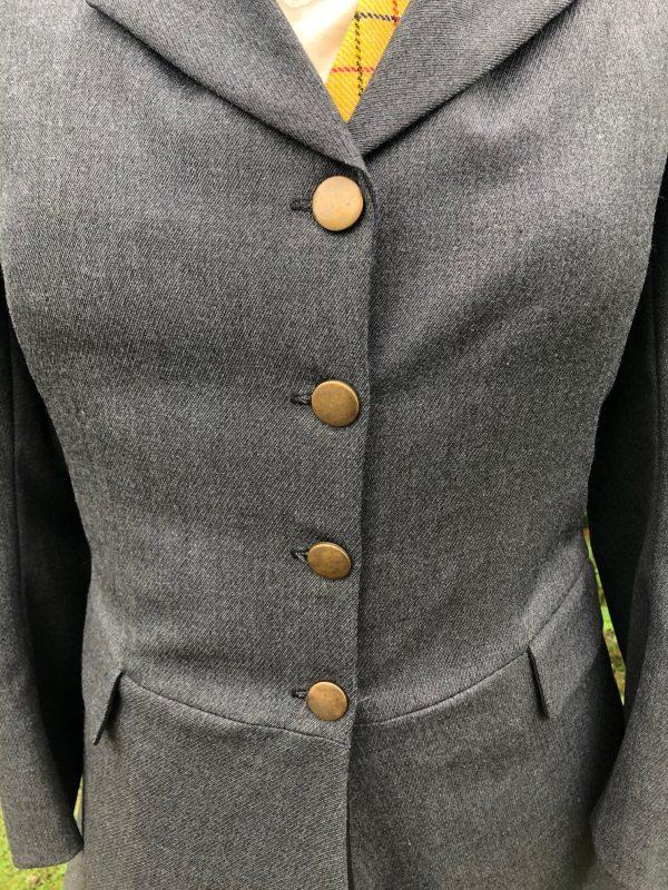 grey hunt coat frock style